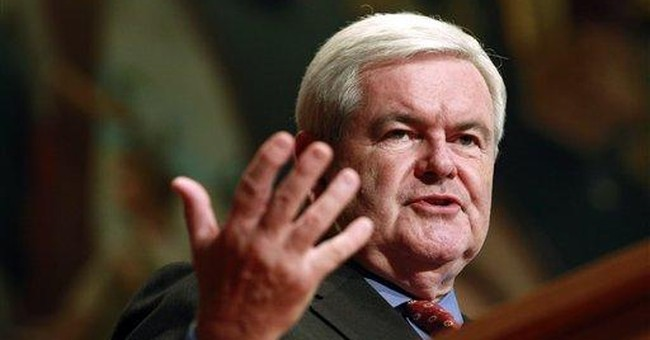 Gingrich says Romney 'is clearly the front-runner'