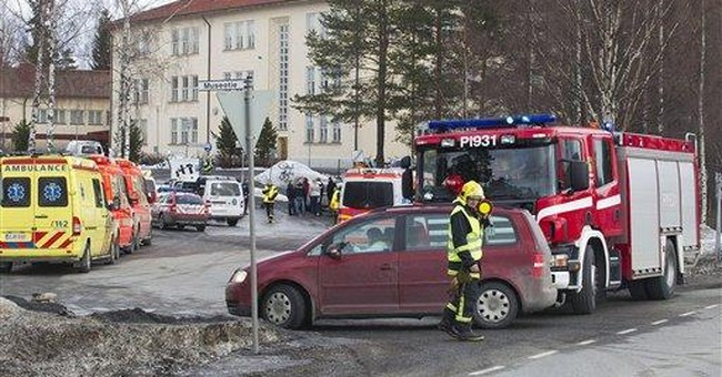 1 wounded in man's shooting spree in Finland