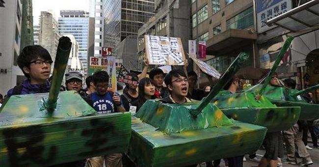 Protesters allege Beijing meddling in HK affairs