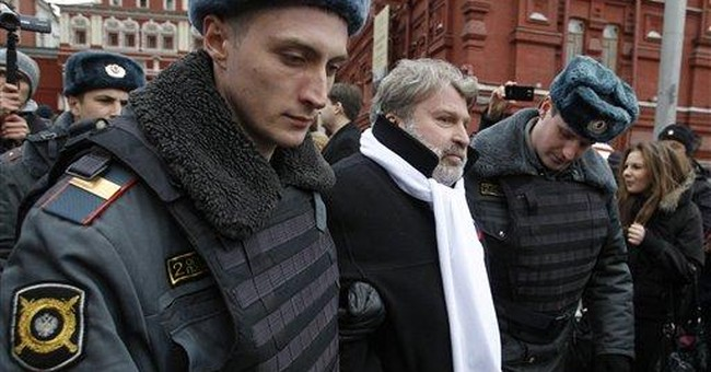 Moscow police detain 55 protesters near Red Square