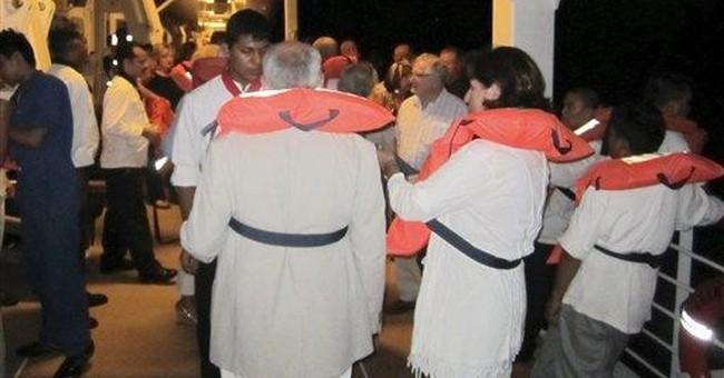 Parties kept spirits high on blaze-hit cruise ship