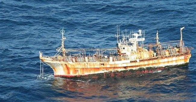 Coast Guard monitors ghost ship drifting northwest