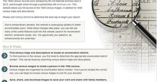 1940 US census viewable online after near freeze