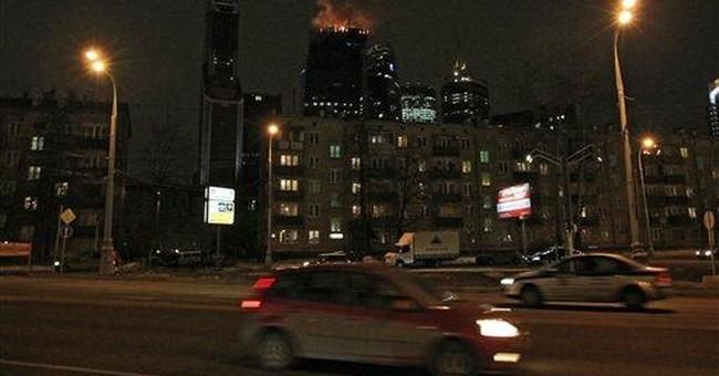 Blaze hits Russian skyscraper, no injuries