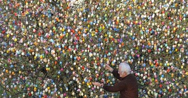 In Germany, 10,000 Easter eggs grace tree