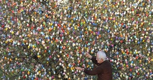 In Germany, 10,000 Easter eggs grace tree