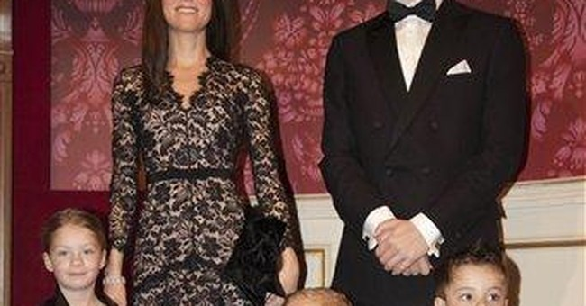 Even set in wax, UK young royals still fascinate