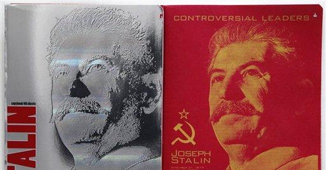 Russian notebooks with Stalin on cover cause stir