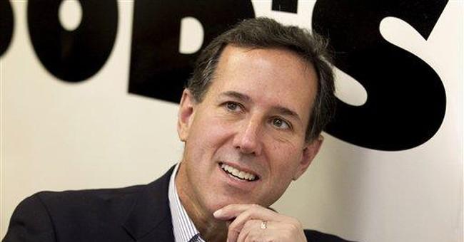 Santorum huddles with conservatives