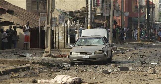 Car bomb near Nigeria churches kills 38