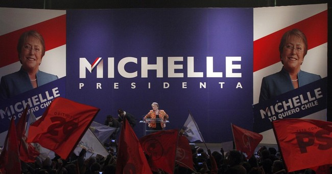 Chile's Bachelet launches presidential campaign