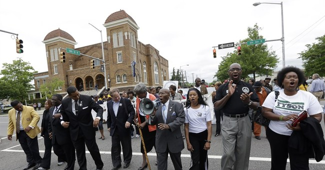 Students re-enact 1963 march against segregation