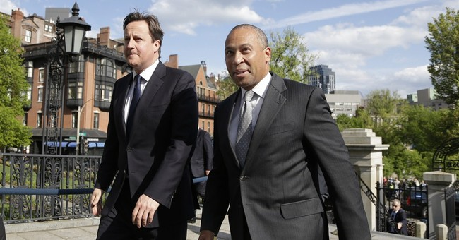 British PM visits Boston to discuss marathon bombs