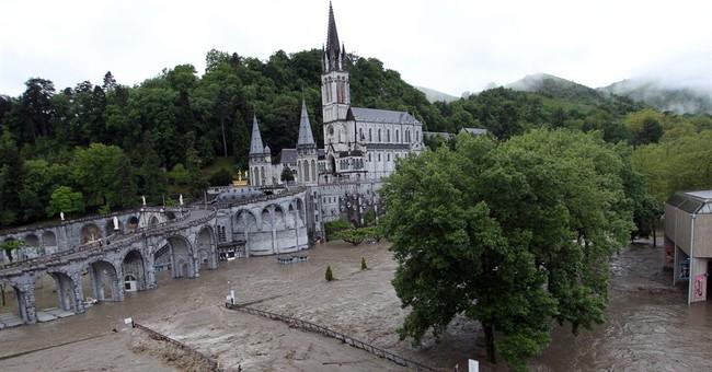 Floods close Lourdes pilgrimage site in Pyrenees
