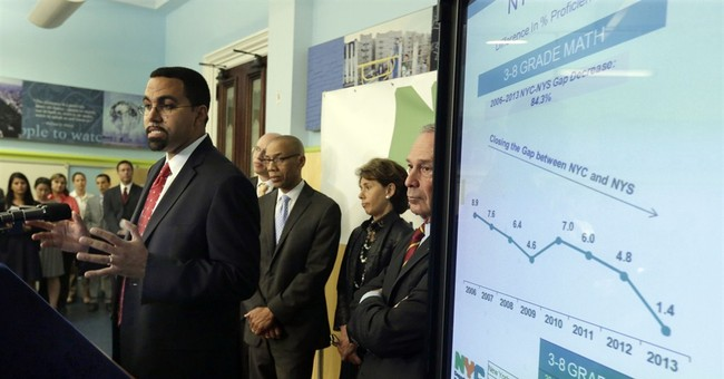 Mayor sees good news for NYC despite lower scores