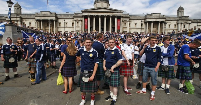 Scotland soccer fans descend on London for match