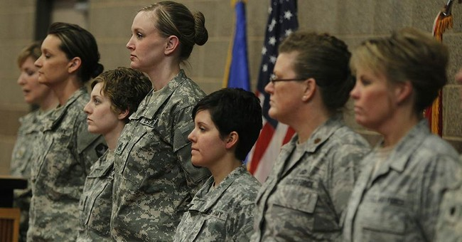 1st woman to lead in combat 'thrilled' with change