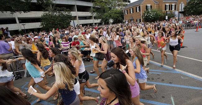 People march against Greek segregation at Alabama