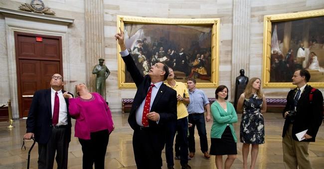 In politics, visuals of the shutdown win the day