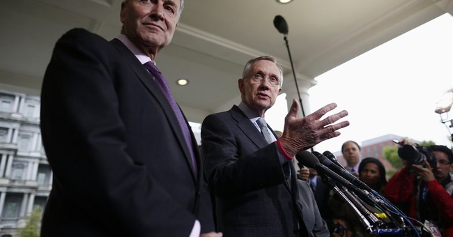 Reid won't negotiate while gov't partly closed