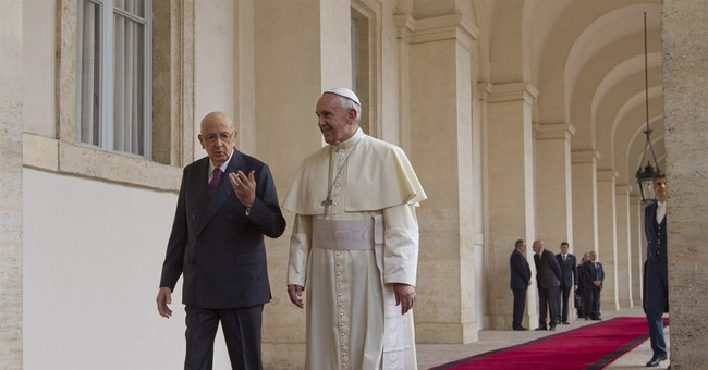 Pope shuns presidential escort for state visit