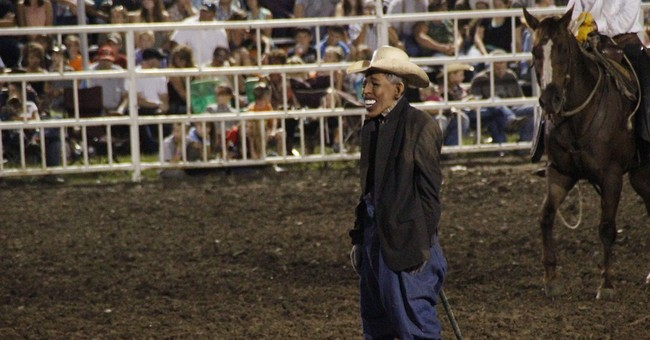 So a President Wearing Clown Mask Goes to a Rodeo…