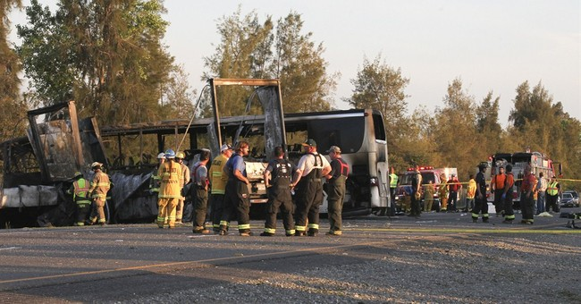 Truck in deadly crash slammed into charter bus