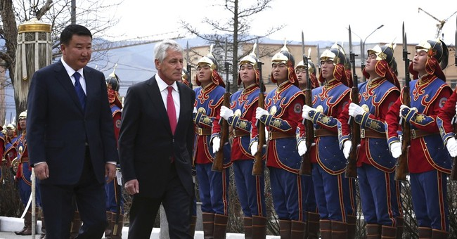 Hagel seeks to increase ties with Mongolia