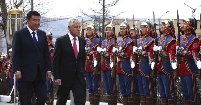 Hagel seeks to increase ties with Mongolia