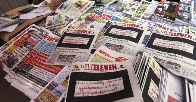 Myanmar papers protest sentencing of reporters