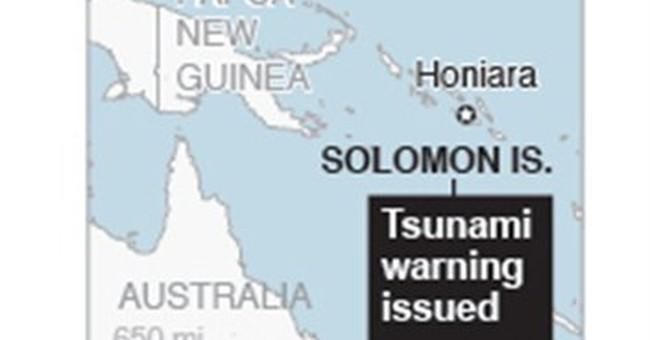 Mag-7.6 quake, waves strike Solomon Islands