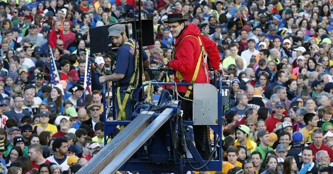 Magazine's Boston Marathon photo shoot draws crowd
