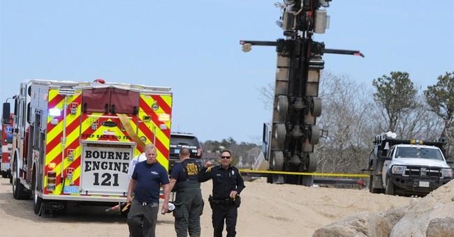 Bucket truck tip over kills 2 on Cape Cod