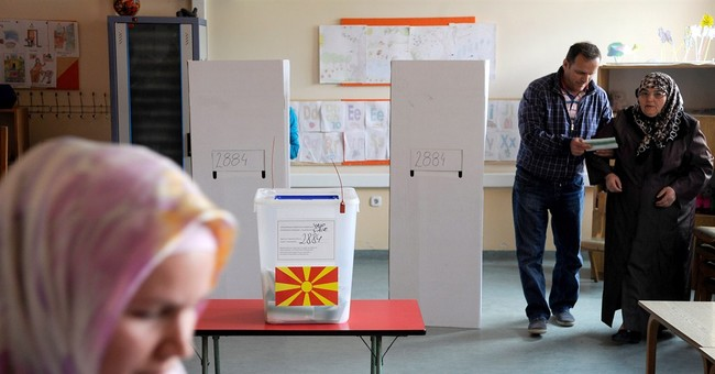 Macedonian president wins first round of election