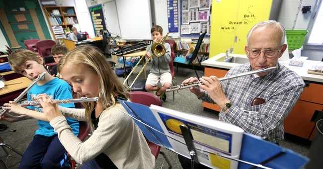 79-year-old player joins Dubuque elementary band