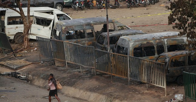 Minister: 75 dead in blast at Nigerian bus station
