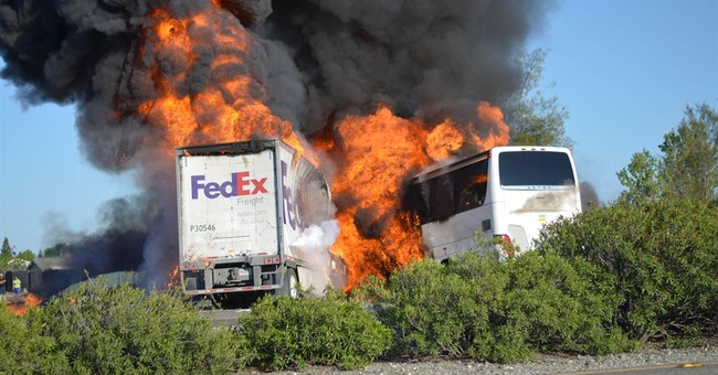 Student struggles to recount fatal truck-bus crash