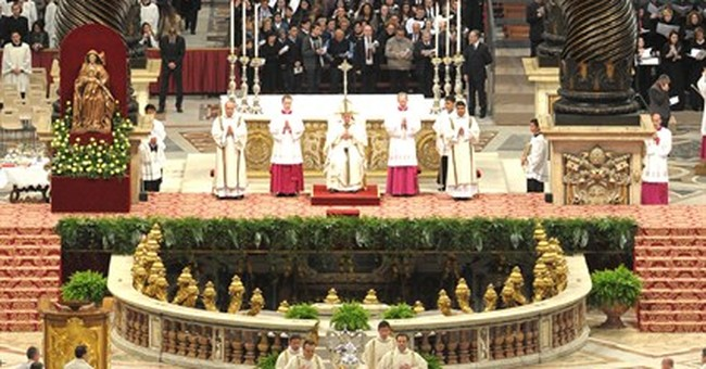 Pope washes feet of elderly, disabled in rite