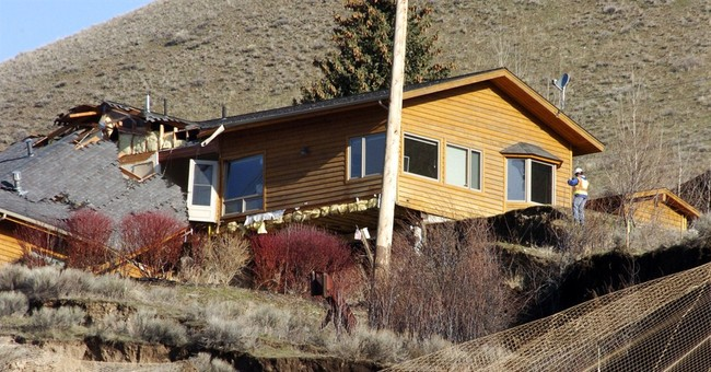 Creeping landslide devouring part of Wyoming town