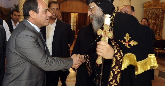 Egypt's el-Sissi visits Coptic pope before Easter