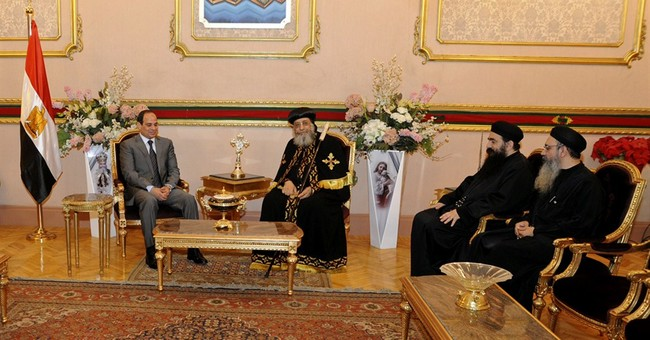 Egypt's el-Sissi visits Coptic pope before Easter