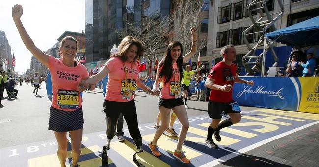 In show of defiance, 32,000 run Boston Marathon