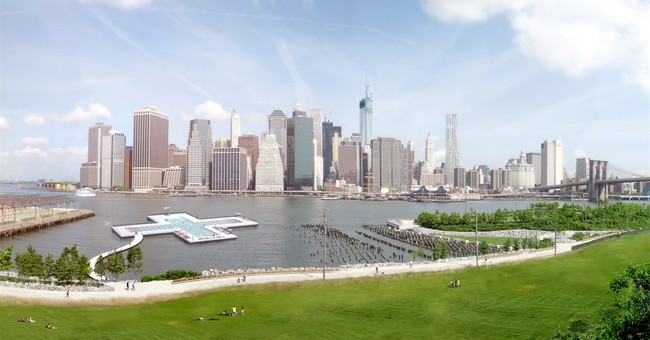 Splashy plan for pool in NYC's East River unveiled