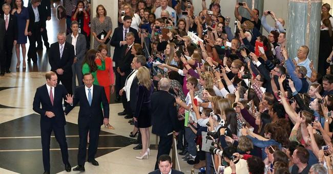 Britain's Prince William bids Australia farewell