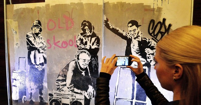 'Recovered' Banksy works on display ahead of sale