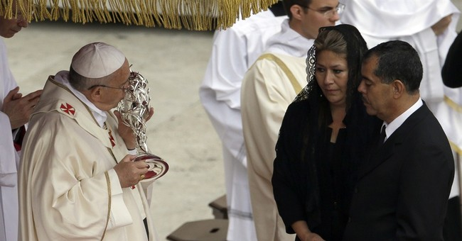 Latin Americans celebrate popes' canonization