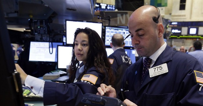 Late push leaves US stock market mostly higher