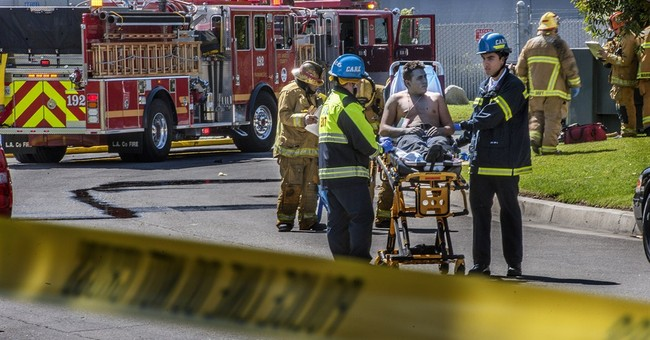 11 hurt in explosion at Los Angeles-area building