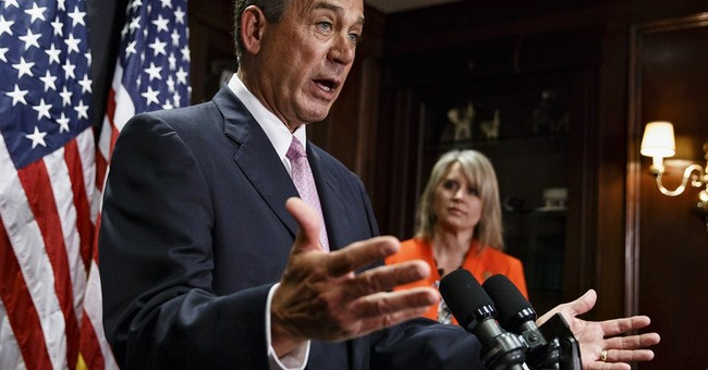 Boehner tells lawmakers he was just ribbing them