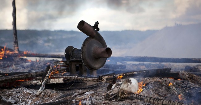 Peru security forces trash illegal mining machines